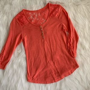 Coral Dressy Top